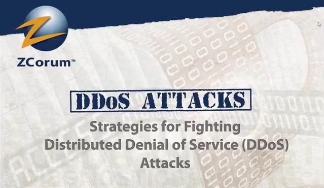 Fighting DDoS Attacks Webinar Image