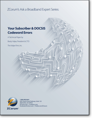 Subscriber and DOCSIS Codeword Errors