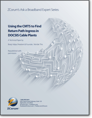 Using CMTS to Find Return Path Ingress